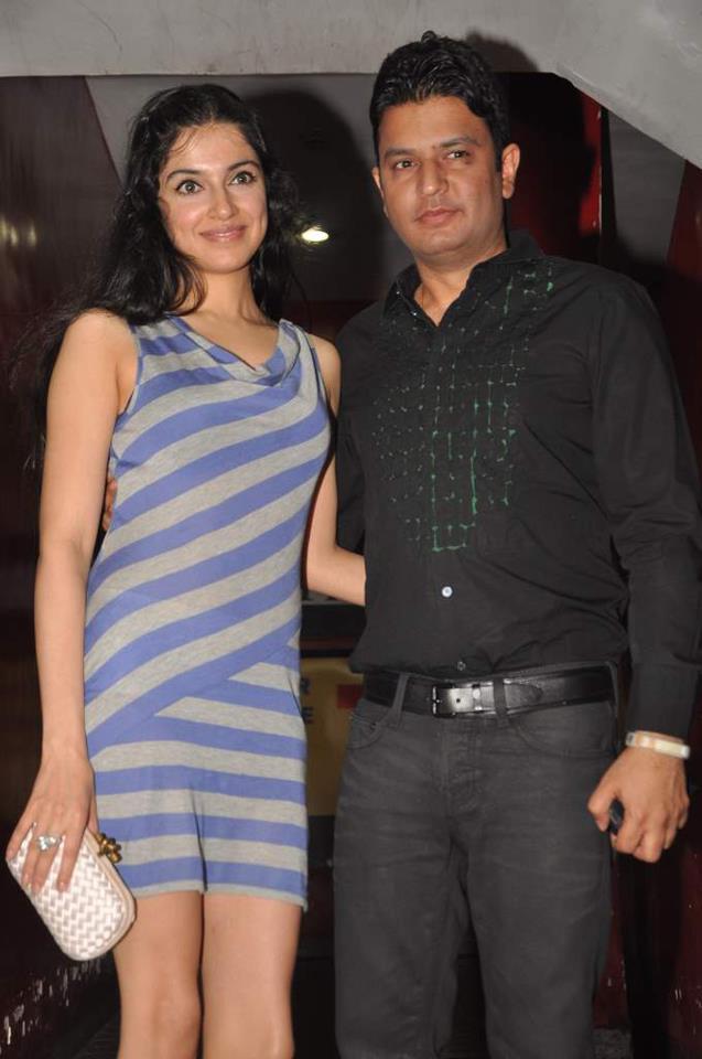 Bhushan Kumar with wife