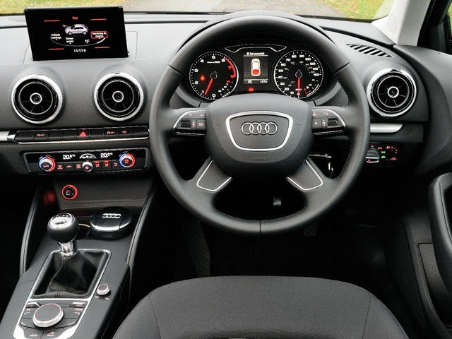 While quality is top notch the dashboard of the Audi A3 could have been made to look more attractive