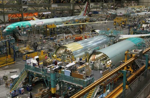 Inside Boeing Everett Factory