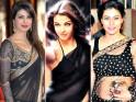 sexy black saris