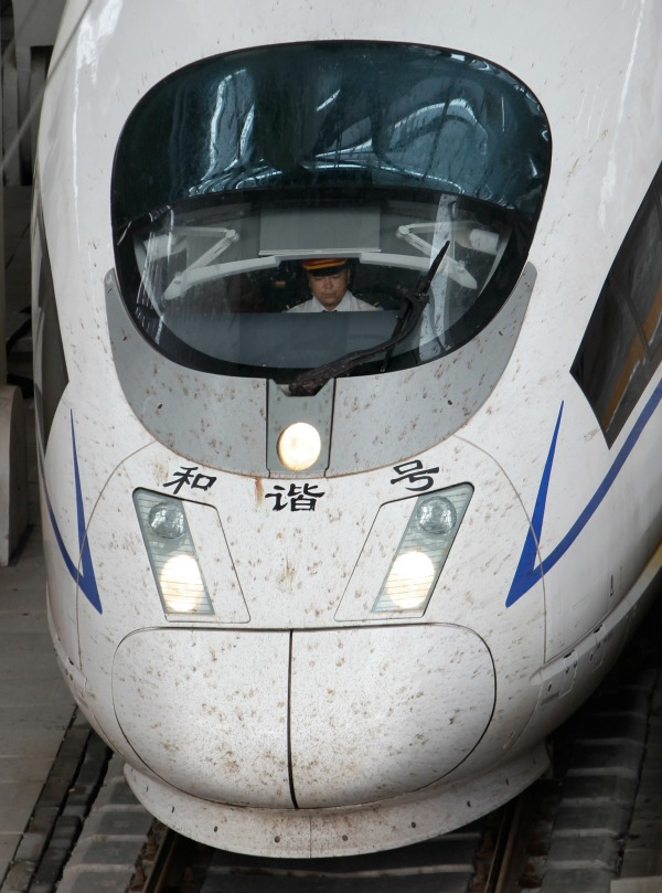 The signalling, track and support structures, control software, and station design are developed domestically with foreign elements as well, so the system as a whole is predominantly Chinese. Photo: Reuters