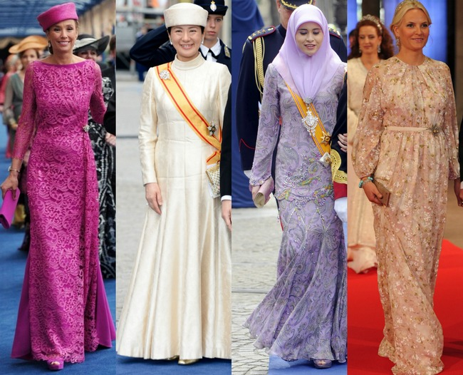 At the inauguration of HM King Willem Alexander, the royal fashion was at its best. Here we spotted many princesses in silk, laces and fascinating fascinators.