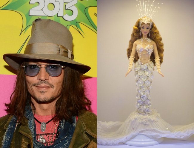 Johnny Depp: He has a collection of limited edition Barbies, including dolls based on Beyonce and Destiny's Child, the High School Musical cast and even a Lindsay Lohan figure with an ankle tag. The actor also likes playing with the dolls, previously admitting: