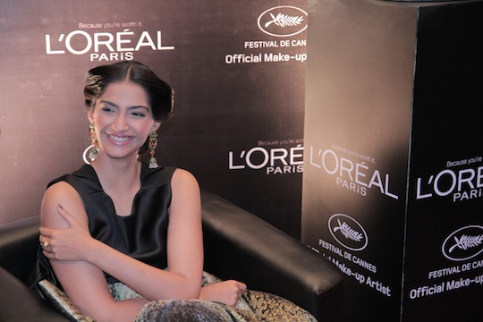 When asked if enough attention is not paid to make-up because clothes tend to get all the media spotlight, Sonam argues,