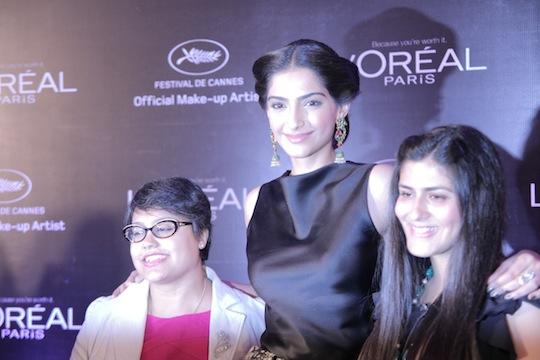 Along with Sonam Kapoor, there will also be Aishwarya Rai Bachchan and Freida Pinto walking the red carpet.  Manashi Guha, Sonam Kapoor, Namrata Soni