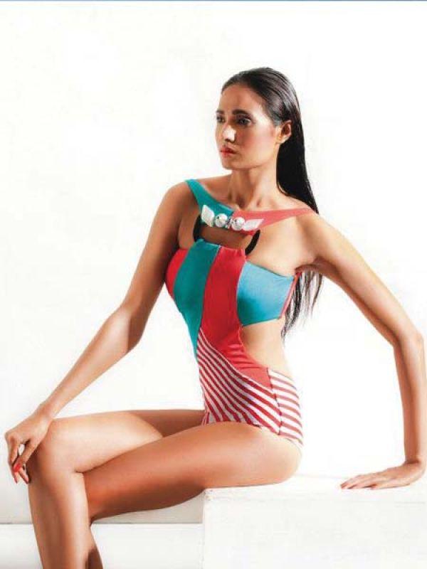 Jewelled trikini by Shivan & Narresh  Available at buy.shivanandnarresh.com; priced at Rs 15,000