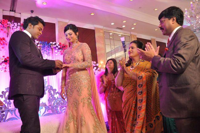 Designer Karan Raj's engagement was graced by the presence of Esha Gupta, Anjana Sukhani, Rumi Jaffery and Madhur Bhandarkar.