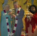 Britain's Prince Charles and Camilla, Duchess of Cornwall in Rishikesh