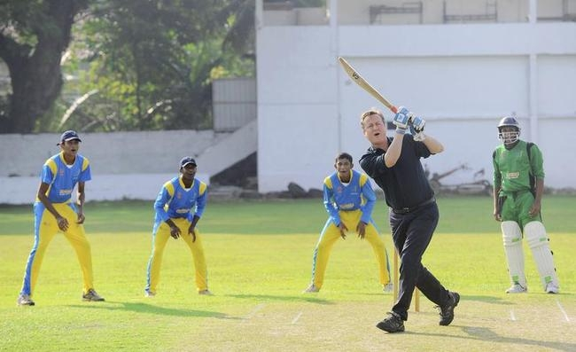David Cameron Plays Cricket