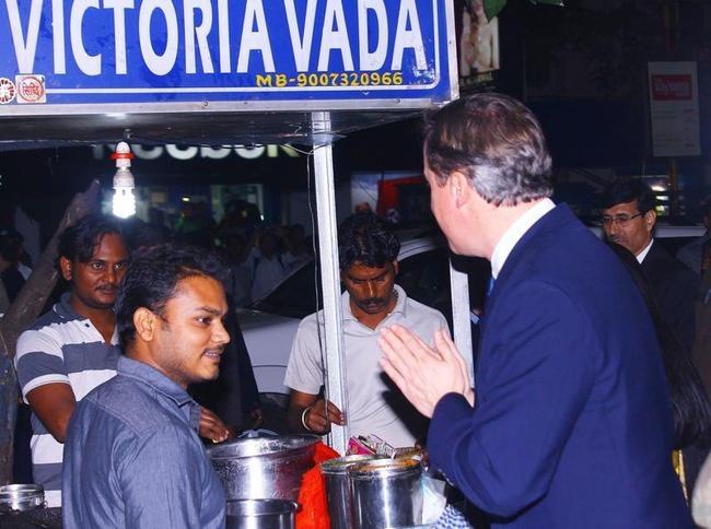 David Cameron In Kolkata