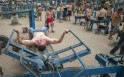 Makeshift Gym in Ukraine