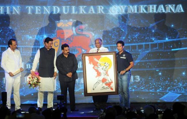 Prithviraj Chavan, Sunil Prabhu, Sharad Pawar and Sachin Tendulkar
