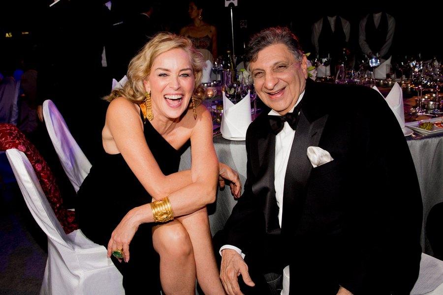 Sharon Stone and Cyrus Poonawalla
