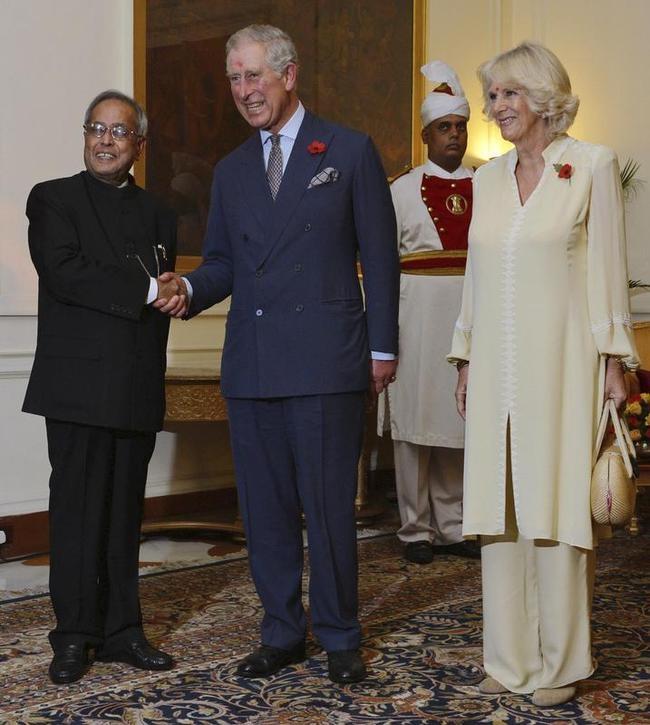 Charles, Camilla, Pranab Mukherjee