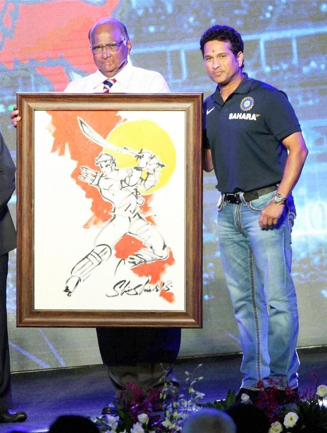 Sharad Pawar and Sachin Tendulkar