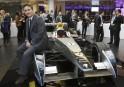 Formula E car in London