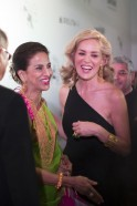 Shobha De and Sharon Stone