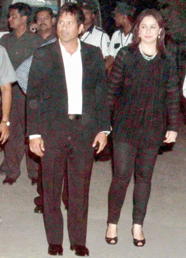 Sachin and Anjali Tendulkar