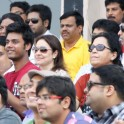 Sachin Tendulkar's wife Anjali and son Arjun at Eden Garden
