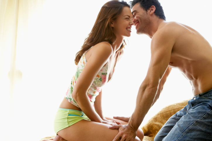 Try kegel exercises - This sexual exercise can be done by both sexes. Just try stopping your urine midway, while urinating. This exercise will help to strengthen your pelvic muscles and help increase your pleasure during sex.