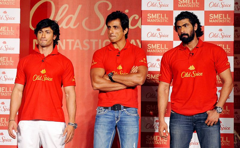 (From left) Vidyut Jamwal, Sonu Sood and Rana Daggubati take centre stage at the event. Photo: AFP