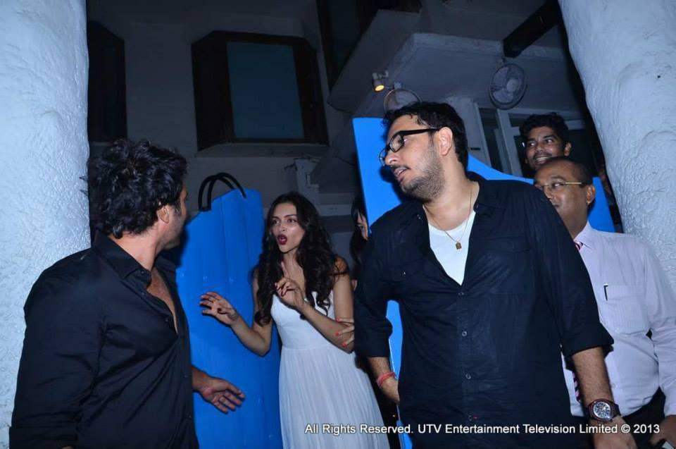 Deepika Padukone, Homi Adajania and Dinesh Vijan