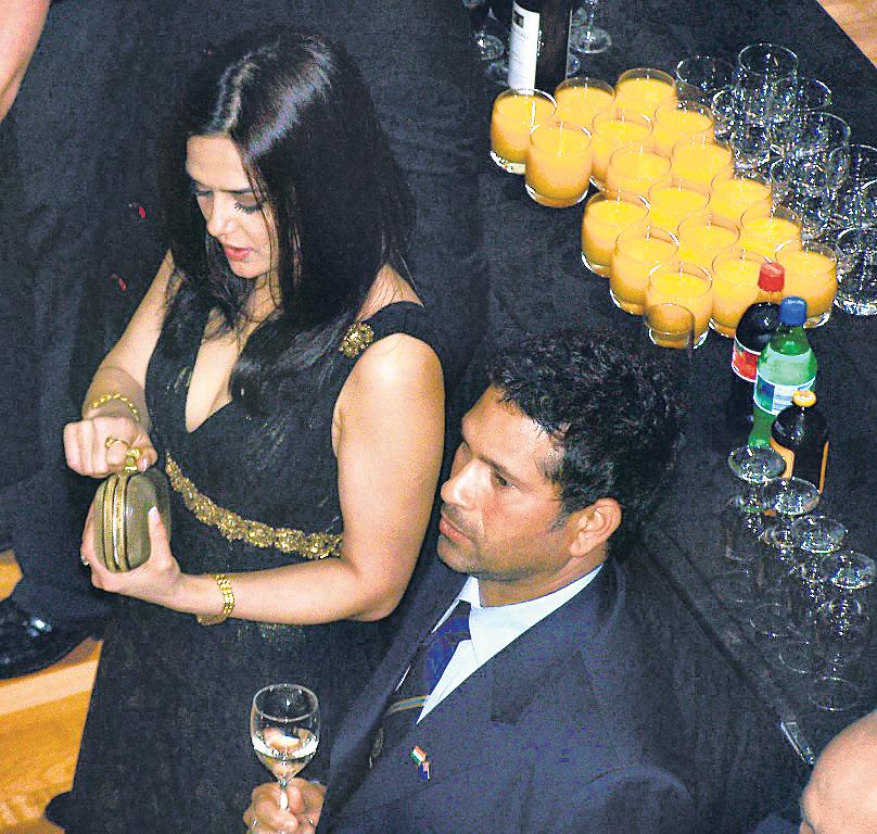 Preity Zinta and Sachin Tendulkar
