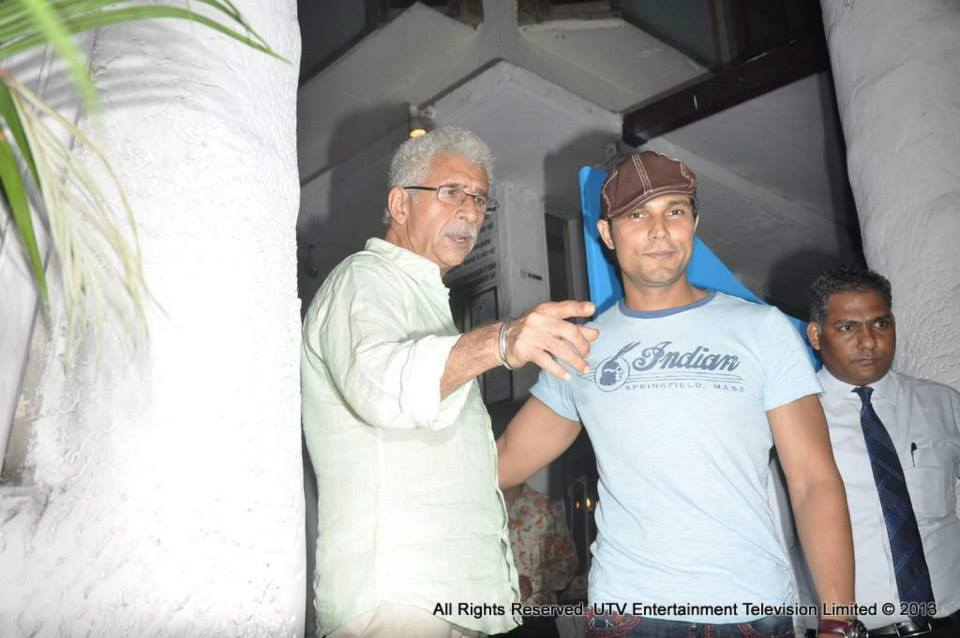 Randeep Hooda and Naseeruddin Shah