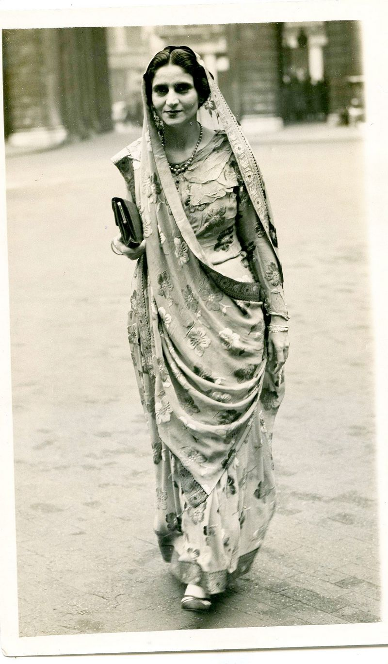 She had a signature style statement, always wearing embroidered Parsi saris with her pallu drawn over her head.