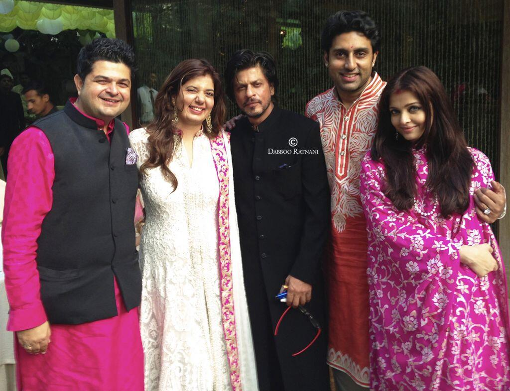 Dabboo Ratnani, Shah Rukh Khan, Abhishek Bachchan and Aishwarya Bachchan