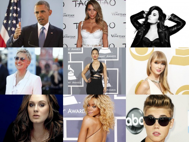 Check out the Top 20 most followed celebrities on Twitter!
