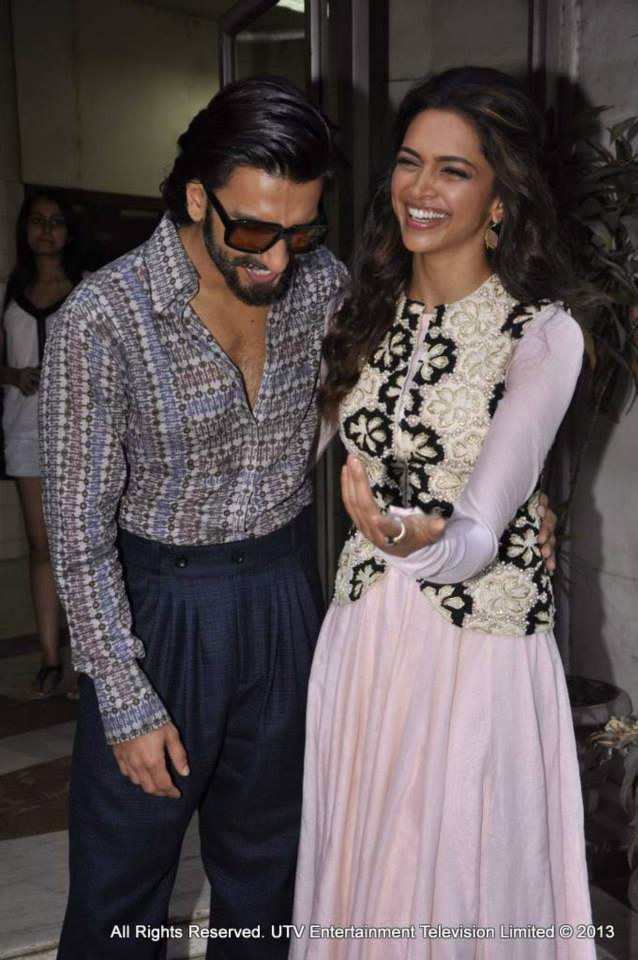 'Ram-Leela' leads Ranveer Singh and Deepika Padukone were all smiles and belly laughs at a promotional event for their film.All images courtesy UTV Stars Facebook page