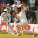 Sachin Tendulkar drives