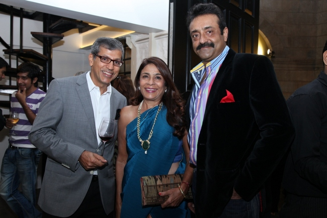 GoodHomes India magazine celebrated the commencement of GoodHomes for Art 2013 with an Exhibition. In pic: Tarun Rai, Rashmi Uday Singh with a friend.