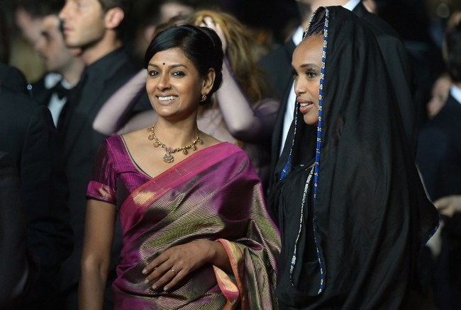 Nandita Das wore a purple sari for a film screening at Cannes Film Festival.