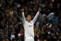Real Madrid's Ronaldo celebrates after scoring his second goal against Juventus during their Champions League soccer match in Madrid