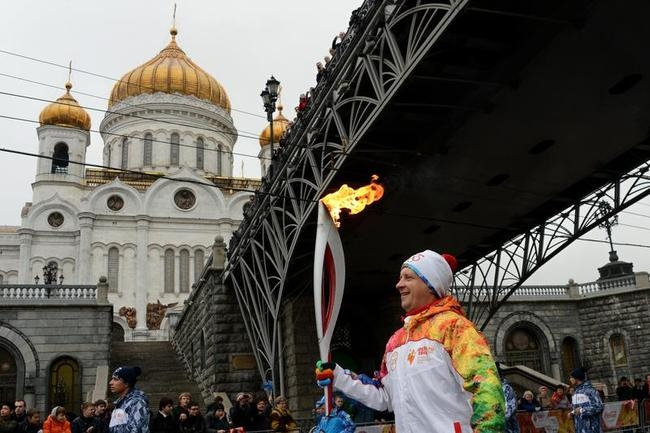 Olympic Torch Relay in Moscow
