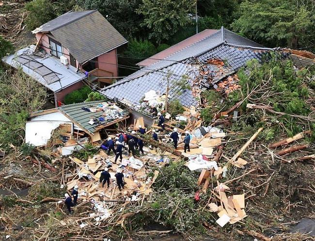 Typhoon Wipha, Mudslides Hit Japan: PICS