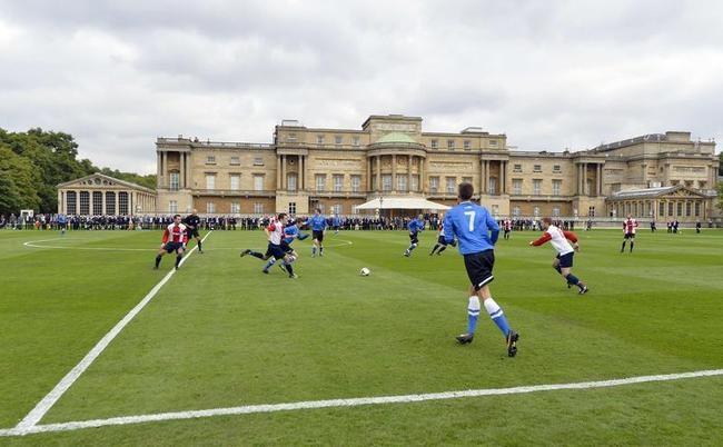Football at Buckingham Palace