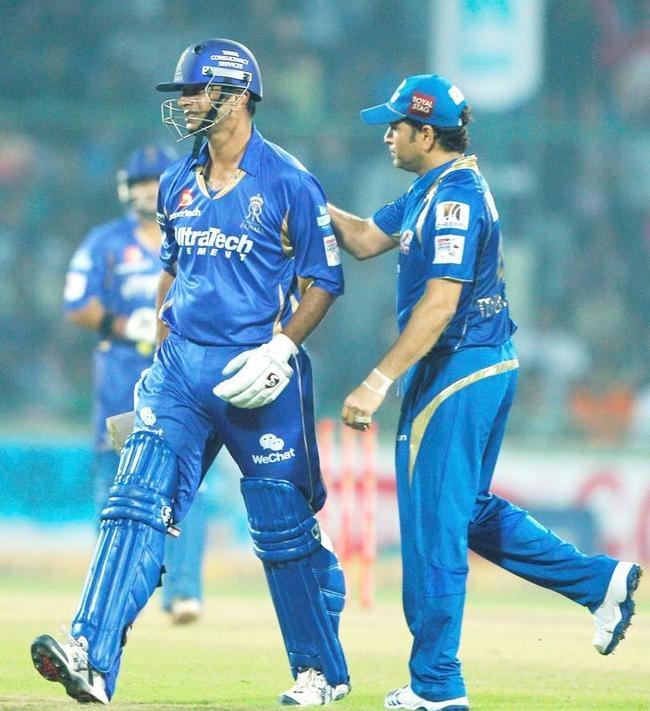 Sachin Tendulkar and Rahul Dravid