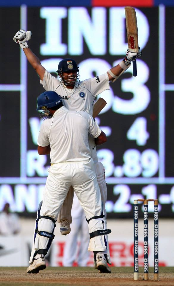 October 10 2013 will always be remembered as the day Sachin Tendulkar, arguably the world's greatest batman announced his decision to retire from Test Cricket. While the world comes to terms with the thought of life after Tendulkar, we revisit some memorable moments from his Test career.  Sachin Tedulkar and Yuvraj Singh celebrate after defeating ENG in Chennai