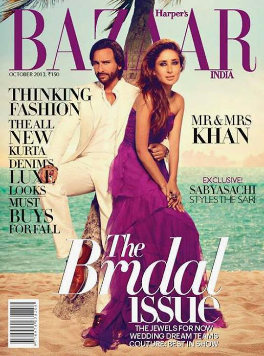 Saif Ali Khan, Kareena Kapoor Khan - Harper's Bazaar India