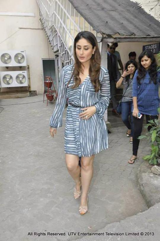 Kareena Kapoor Khan was spotted at Mehboob Studio recently.  Courtesy: UTV