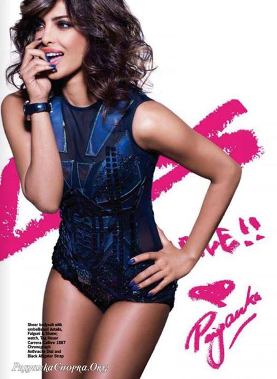 Priyanka Chopra flaunts her sensuous side for Cosmopolitan magazine's October issue.