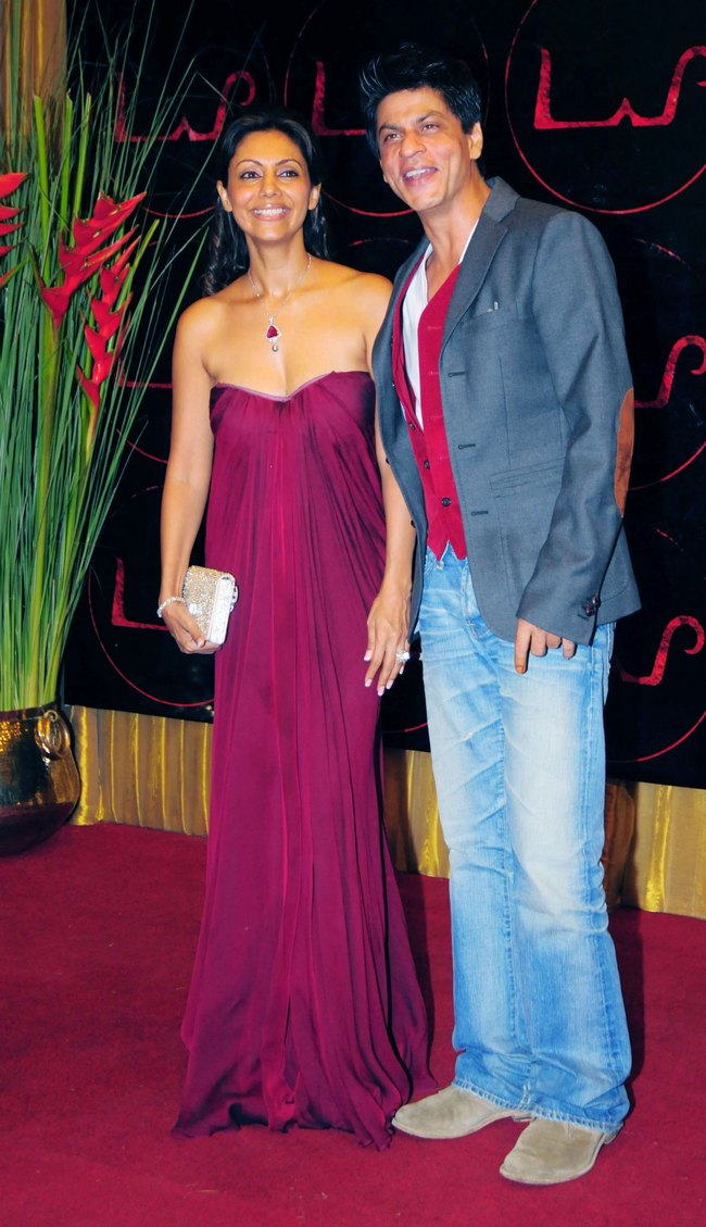 Gauri Khan looked gorgeous in a purple gown, which she wore during a party.