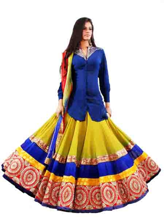 What: Anarkali lehenga
