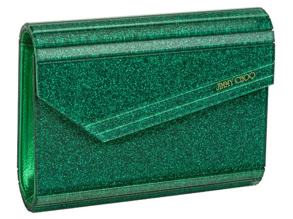 Jimmy Choo Candy Emerald clutch