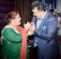 Rishi Kapoor and Saroj Khan