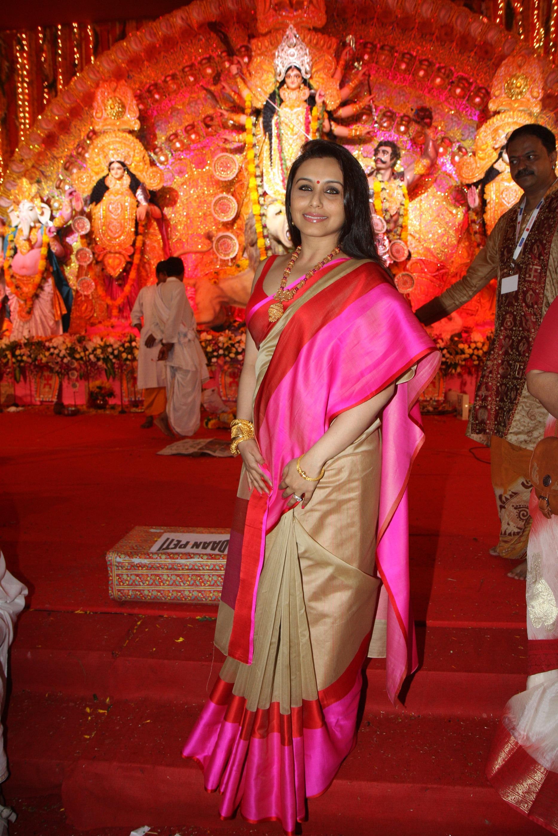 Bollywood's Bengali brigade celebrated Ashtami in traditional style complete with all the festivities.