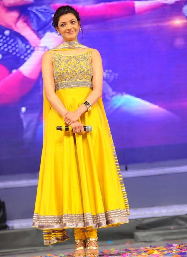 Kajal Agarwal was at her traditional best during a film promotion event.